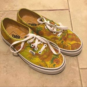 Van Gogh Sunflower Vans Authentic Limited Edition